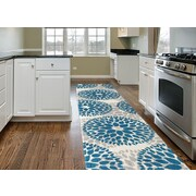 Varick Gallery Wallner Blue Area Rug; Runner 2' x 7'2''