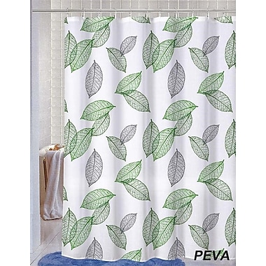 Winston Porter Deidre Leaves Shower Curtain w/ 12 Shower Hook