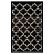 Winston Porter Angelita Trellis Black Area Rug; 4' x 6'