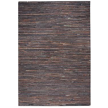 Union Rustic Macdonald Hand-Woven Dark Brown Area Rug; 8' x 10'