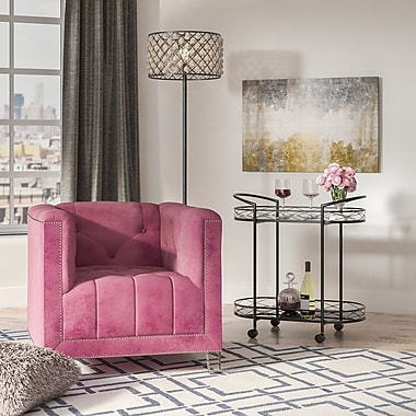 Willa Arlo Interiors Prue Armchair; Plum/Clear