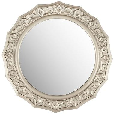 Willa Arlo Interiors Round Lace Mirror; Pewter