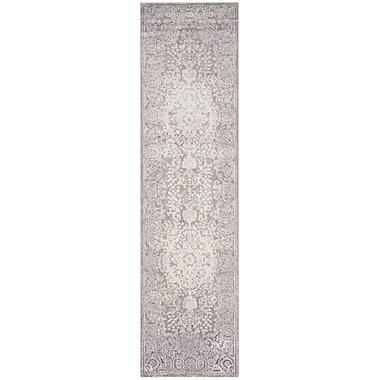 Willa Arlo Interiors Becontree Grey & Silver Area Rug; 9' x 12'