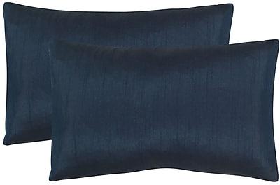 Willa Arlo Interiors Rhea Lumbar Pillow (Set of 2); Navy
