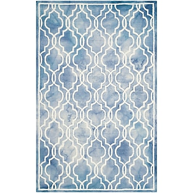 Willa Arlo Interiors Arlene Hand-Tufted Blue/Ivory Area Rug; Square 7'