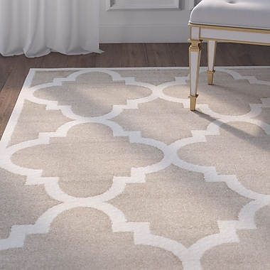 Willa Arlo Interiors Maritza Wheat/Beige Indoor/Outdoor Area Rug; Rectangle 9' x 12'