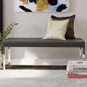 Willa Arlo Interiors Bourke Upholstered Bench; Gray