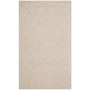 Willa Arlo Interiors Bilbania Hand-Tufted Gold/Taupe Area Rug; 3' x 5'