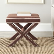 Willa Arlo Interiors Morrison Wood Ottoman; Chocolate Brown