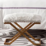 Willa Arlo Interiors Brownsville Fur Bench by Simmons Casegoods