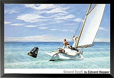Breakwater Bay 'Ground Swell' by Edward Hopper Framed Graphic Art Print Poster; 26.5'' H x 38.5'' W