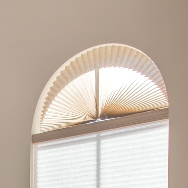 Charlton Home Light Filtering Fabric Arch Shade; Natural