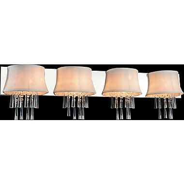 CrystalWorld Audrey 4-Light Design Wall Light; Off-White