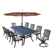 Darby Home Co Otsego 9 Piece Rust Resistant Aluminum Dining Set w/ Cushions