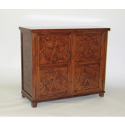 Wayborn Issur Bamboo Cabinet; Brown