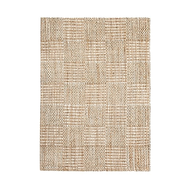 August Grove Whitney Hand-Woven Tan/Ivory Area Rug; 8' x 10'