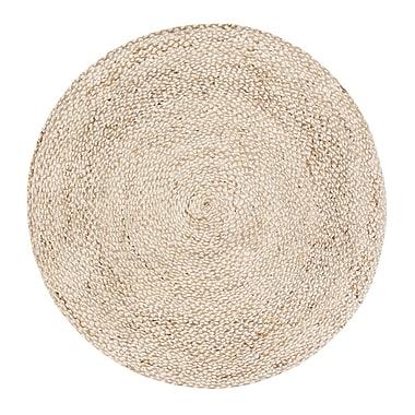 August Grove Wilhelmina Handmade Ivory/Tan Area Rug; Round 8'