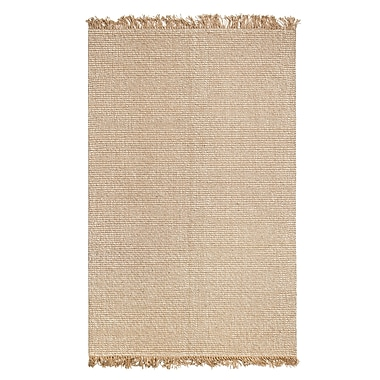August Grove Wilma Hand-Woven Tan/Ivory Area Rug; 9' x 12'
