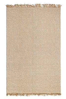 August Grove Wilma Hand-Woven Tan/Ivory Area Rug; 5' x 8'