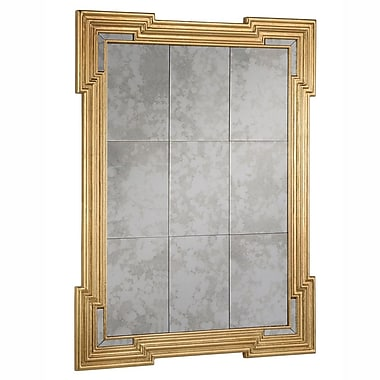 Astoria Grand Traditional Gold Rectangle Framed Wall Mirror