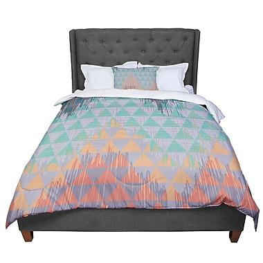 East Urban Home Nika Martinez Ikat Geometrie Comforter; Queen