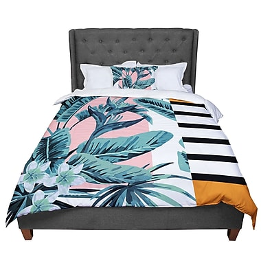East Urban Home Monstera Nature Pop Art Comforter; Queen