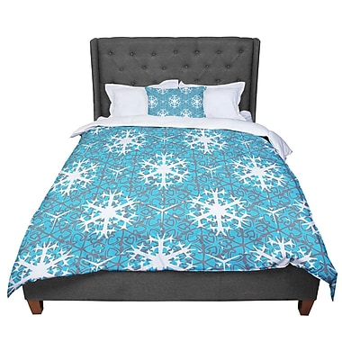 East Urban Home Miranda Mol Precious Flakes Comforter; Queen