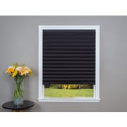 Ebern Designs Paper Black Pleated Shade (Set of 4); 36'' W x 72'' L