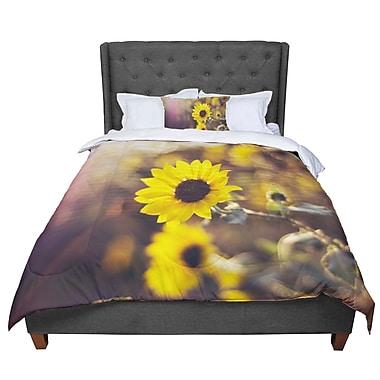 East Urban Home Libertad Leal Magic Light Flower Comforter; King