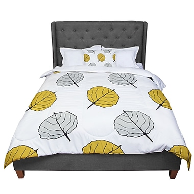 East Urban Home Laurie Baars Quaking Leaf Comforter; Queen