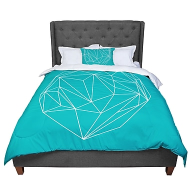 East Urban Home Mareike Boehmer Heart Graphic Abstract Comforter; King