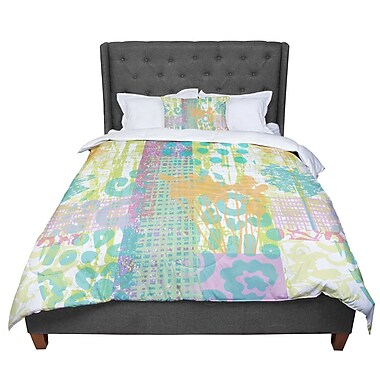 East Urban Home Chickaprint Dazed Pastel Splatter Comforter; Queen