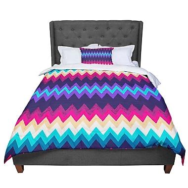 East Urban Home Nika Martinez Surf Chevron Comforter; King