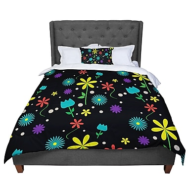 East Urban Home Louise Flower I Comforter; Twin