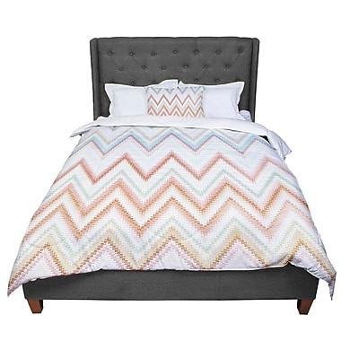 East Urban Home Nika Martinez Seventies Chevron Pattern Comforter; Queen