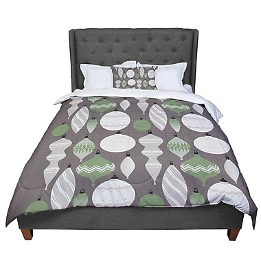 East Urban Home Mixed Ornaments Comforter; King
