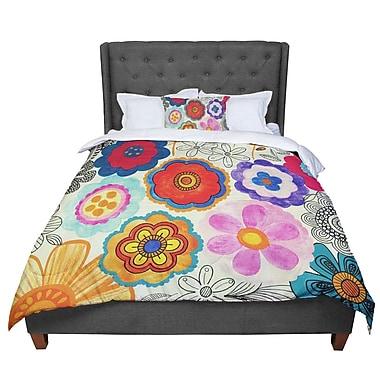 East Urban Home Louise Machado Charming Floral Comforter; Queen