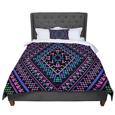 East Urban Home Nika Martinez Neon Pattern Comforter; Queen