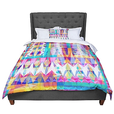 East Urban Home Miranda Mol Triangle Collage Pastel Geometric Comforter; Twin