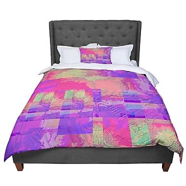 East Urban Home Nina May Embossed Impermenance Comforter; King