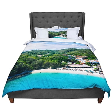 East Urban Home Nick Nareshni Forest on the Beach Photography Comforter; Twin