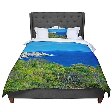 East Urban Home Nick Nareshni Forest to the Ocean Photography Comforter; Queen