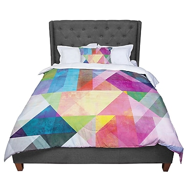 East Urban Home Mareike Boehmer Blocking Rainbow Abstract Comforter; King