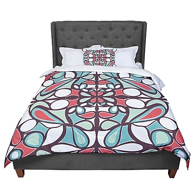 East Urban Home Miranda Mol Round Tiles Comforter; King