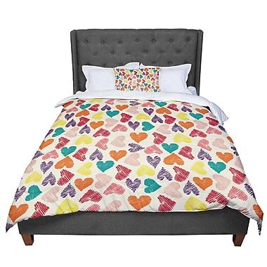 East Urban Home Louise Machado Little Hearts Comforter; King