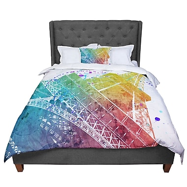 East Urban Home Nika Martinez Paris Je T'aime Watercolor Comforter; Twin