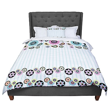 East Urban Home Nina May Paisley Party Paisley Flower Comforter; Twin