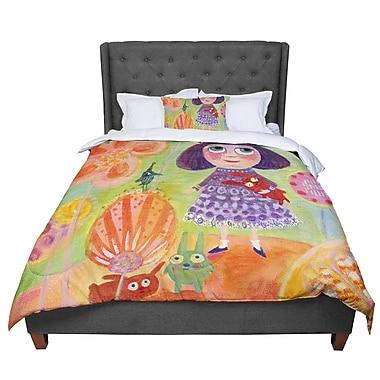 East Urban Home Marianna Tankelevich Flowerland Comforter; Queen