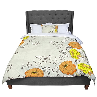 East Urban Home Nandita Singh Flowers and Twigs Comforter; King
