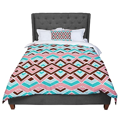 East Urban Home Pom Graphic Design Eclectic Comforter; King
